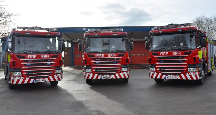 3 new fire engines
