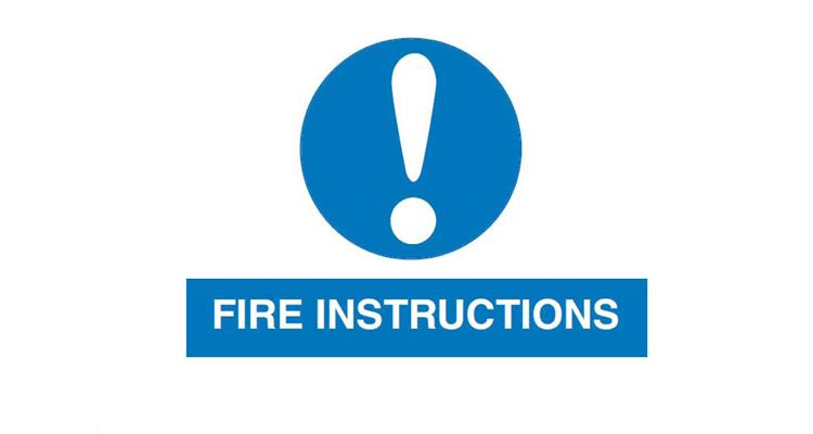 Fire instruction notice