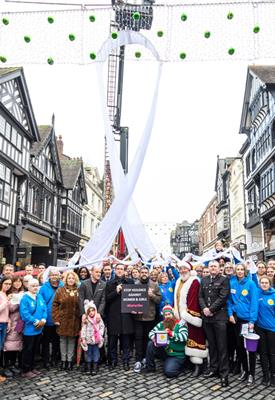 White ribbon event in Chester