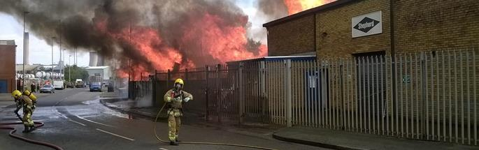 Fire involving a commercial premises in Cheshire