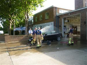 Car wash at Ellesmere Port Fire Station