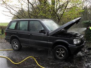 Result of car fire in Bollington