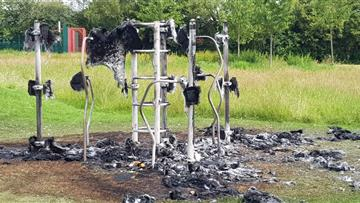 Play equipment on fire in Runcorn