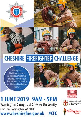 Cheshire Firefighter Challenge poster