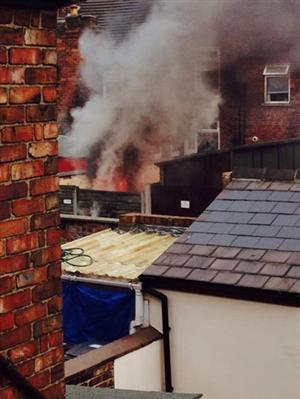Orford garden fire