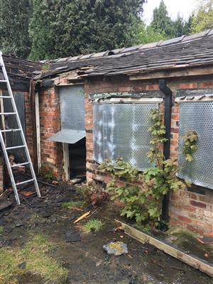Disused outbuilding involved in fire