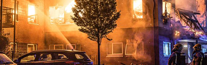 Fire at a supported living complex in Crewe