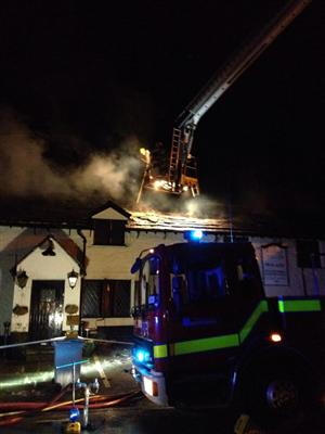 Fire in a Macclesfield pub