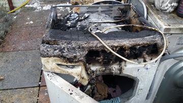 The tumble dryer that caused the fire