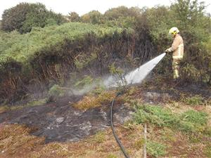 Scrubland fire in Halton