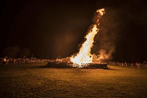 A bonfire on Bonfire Night