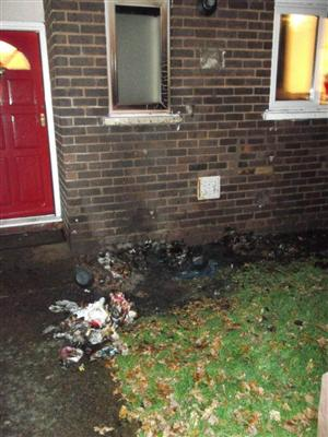 Deliberate wheelie bin fire in Chester