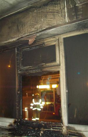 Damage caused after cafe fire in Warrington
