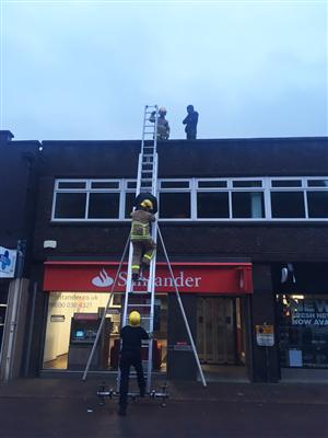 Firefighters rescue three people from Wilmslow roof
