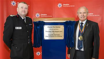 Chief Fire Officer Mark Cashin and Cheshire Fire Authority Chairman Councillor Bob Rudd