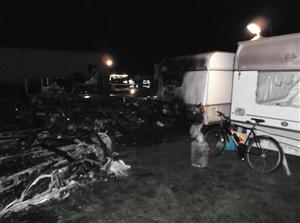 A number of caravans and a trailer destroyed by fire in Brereton