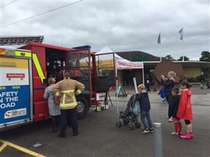 Road safety and fire engine tour at Chester Zoo
