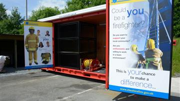 Firefighter recruitment pod
