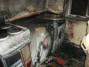 Damage caused by tumble drier fire