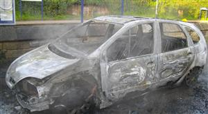 Car fire in Chester