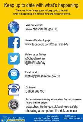 Cheshire Fire Alert for Businesses
