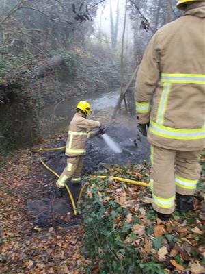 Shed fire in Wistaston tackled by firefighters