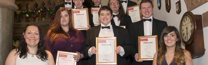 Prince's Trust team graduating at the end of their 12-week course