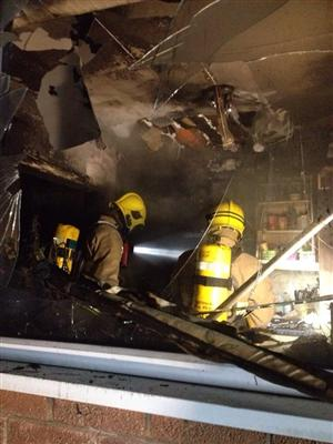 Damage caused by chip pan fire