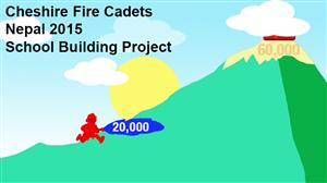 The Cheshire Fire Cadets have so far raised £20,000 for the Nepal School Building project