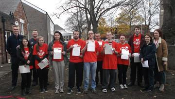 Prince's Trust team hands over project in Crewe