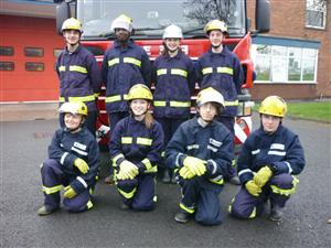 Crewe Fire Station Cadets who meet on a Thursday night