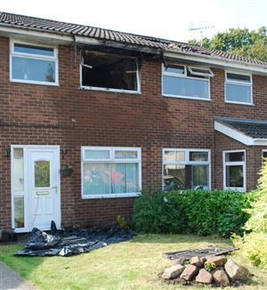 House damaged by fire in Winsford