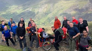 The group during the trek up Snowdon