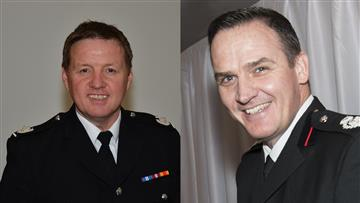 New Assistant Chief Fire Officers Gus O'Rourke and Alex Waller