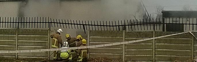 Firefighters dealing with an incident