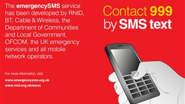 999 SMS to the emergency services