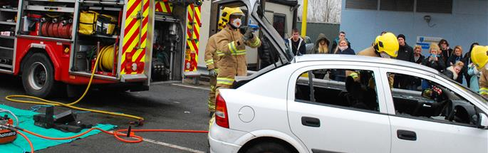 Drive survive - a course for young drivers, organised by Cheshire Fire and Rescue Service