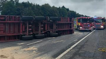 One-vehicle-collision on M56