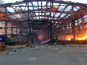 Warehouse fire in Widnes