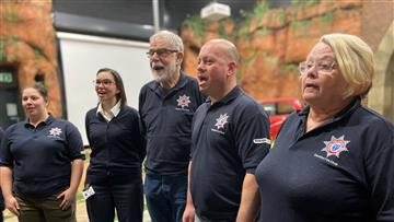 Members of the Cheshire Fire Choir
