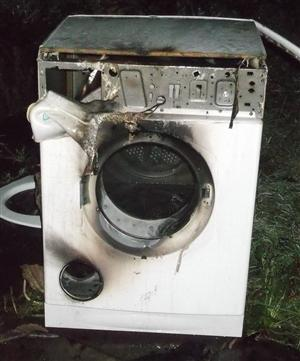 Damage caused to tumble dryer involvined in fire
