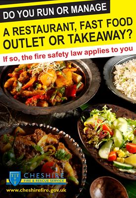 Restuarant or takeway fire safety leaflets