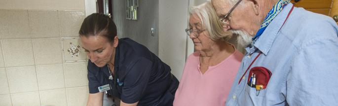 Firefighter conducted a home safety check in Cheshire