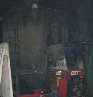 Fire involving an industrial dryer