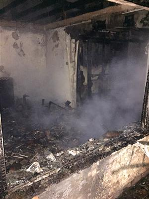 Bungalow fire in Little Leigh