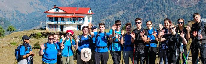 Cheshire Fire Cadets in Nepal