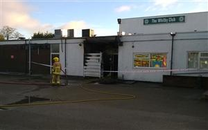 Fire at social club in Whitby, Ellesmere Port