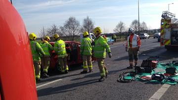 Road traffic collision on M6
