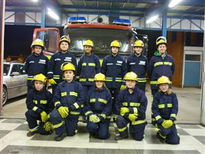 Crewe Fire Station Cadets who meet on a Wednesday night