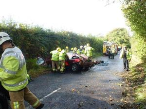 Road traffic collision in Sandbach